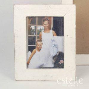Träram i vitt, 20 x 24,5 cm