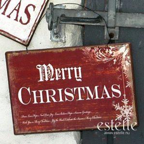 Röd skylt - Merry Christmas