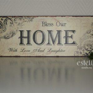 Skylt - Bless Our Home ...