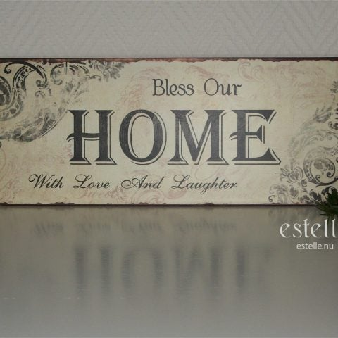 Skylt - Bless Our Home ...
