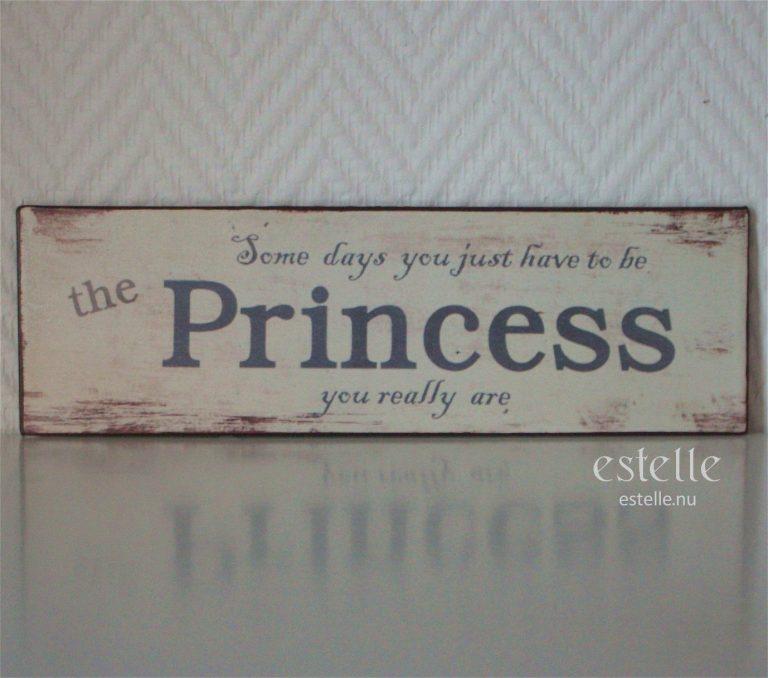 Skylt - Princess