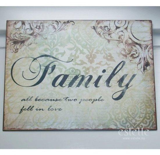 Skylt - Family
