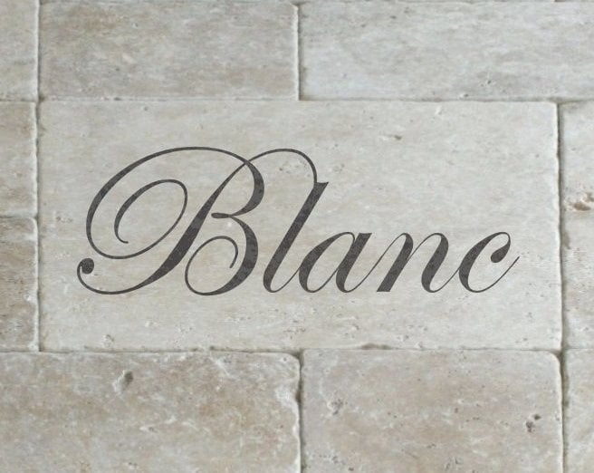 Schablon 'Blanc' i lantlig stil