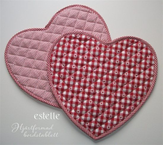 Hjärtformad bordstablett