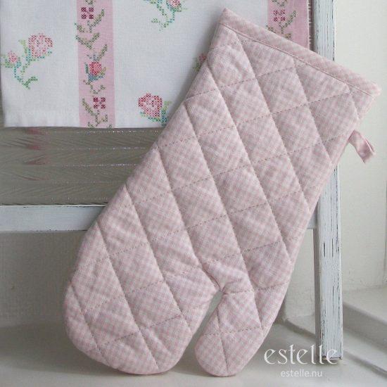 Grillvante, rosa - smårutig