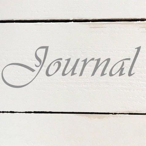Schablon 'Journal' i lantlig stil