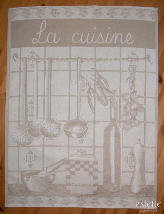 Kökshandduk 'La cuisine' – Beige