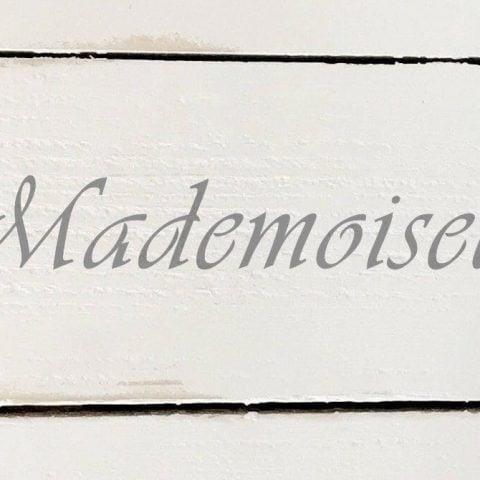 Schablon 'Mademoiselle' i fransk lantstil