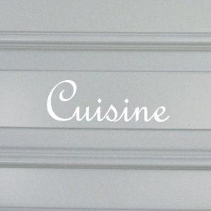 Schablon 'Cuisine' i fransk lantstil