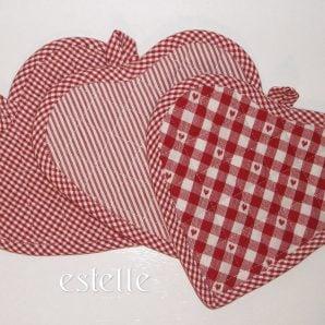 Hjärtformade grytlappar